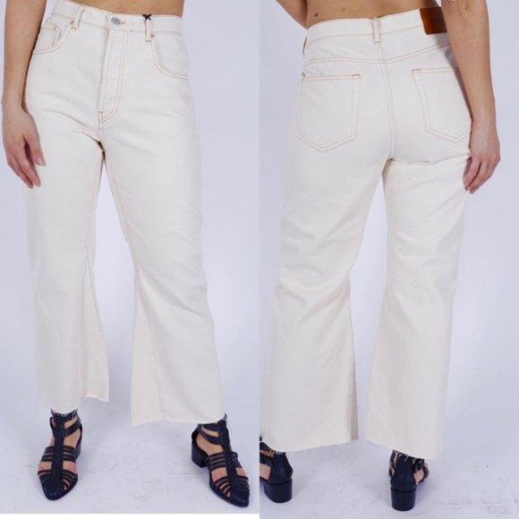 Zara Jeans Sale Zara Women Wide Leg High Rise Cropped Jeans Poshmark